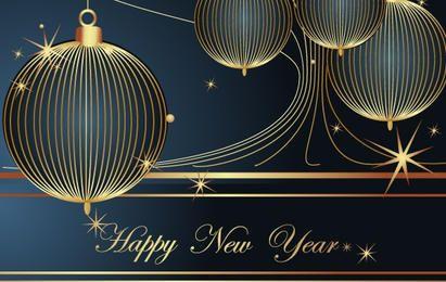 Feliz año nuevo elemento de decoración de vectores