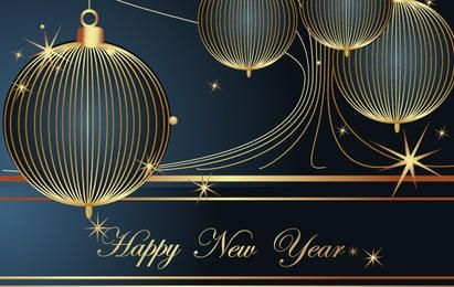 Happy New Year Vector Decoration Element