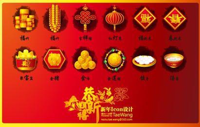 Vetor de ano novo chinês