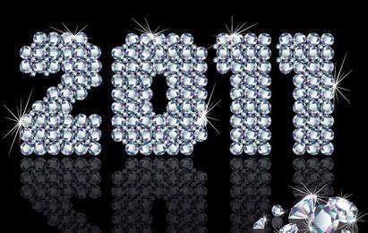 Vector feliz ano novo 2011
