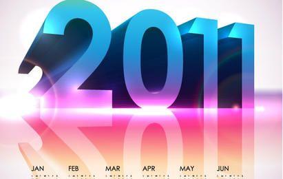 Kühler Kalender 2011 - Vektor-Design