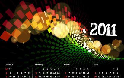 2011 Calendar and Grid