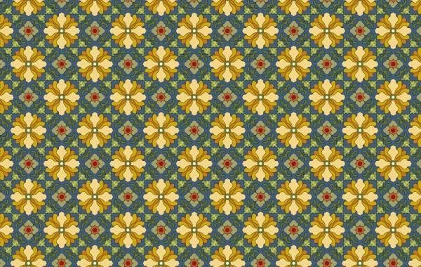 Classic tile pattern vector-7