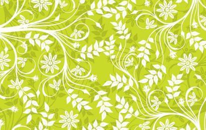 Fondo verde Vector patrón