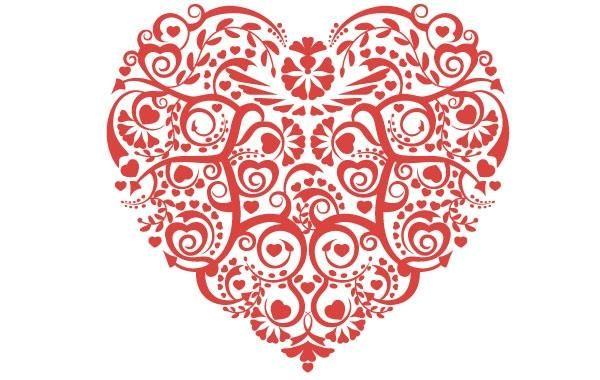 Valentines Vector red Heart - Vector download