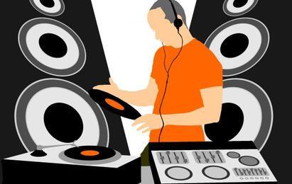 Vetor de DJ de música