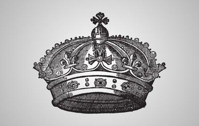 Ilustração medieval da coroa