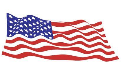 Vector de bandera de Estados Unidos ondeando