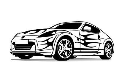 Imagem vetorial de carro esportivo
