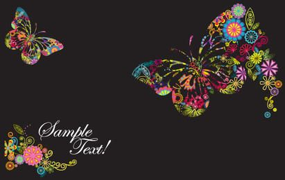 Schmetterlings-Designs in Vektorform