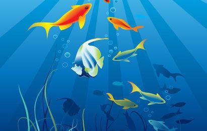 Mundo de vetores subaquáticos