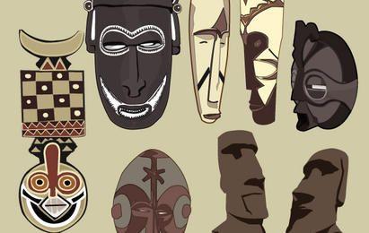 Máscaras antiguas de vectores