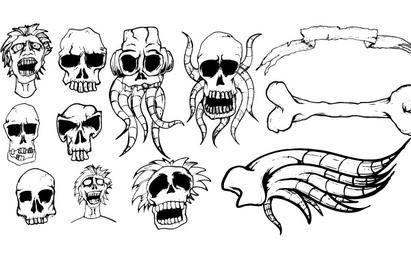 Pacote de vetores de design de crânio