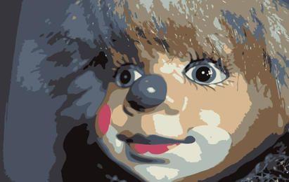 Cara de muñeca de miedo