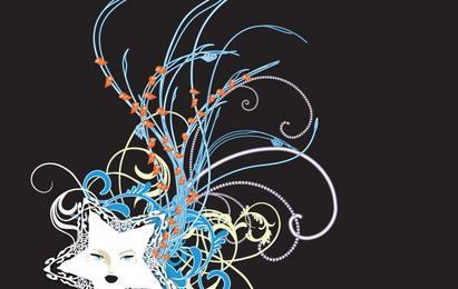 Cachos de Swirly 6 - estrela de néon