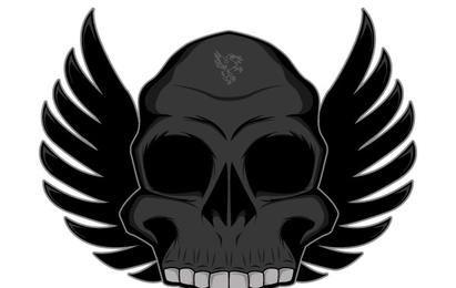 Vector gratis de cráneo alado
