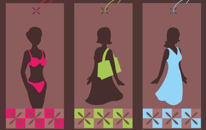 Etiquetas de moda funky
