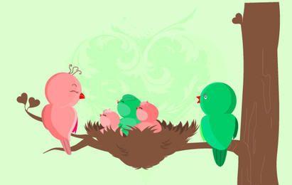Pássaros bebê