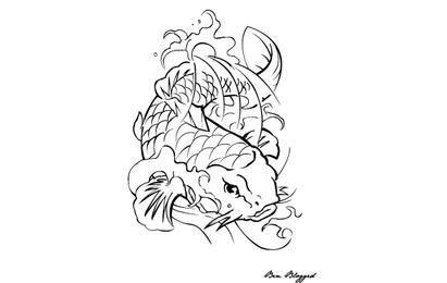 Coi Fish - Tätowierung