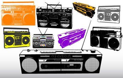 Diferentes Vetores sistema de rádio e Música
