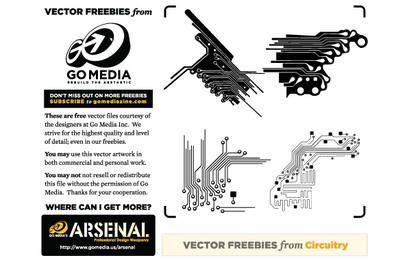 Vector Freebie: Circuitería