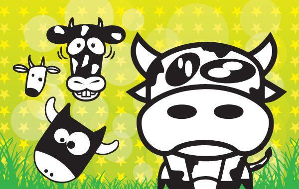 Imagenes Vacas Animadas: Vacas Dibujos Animados