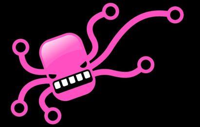 Freie Vektor der rosafarbenen Krake