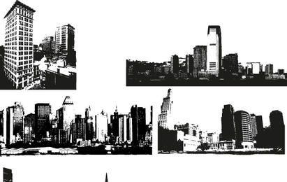 Imágenes vectoriales del horizonte de la ciudad