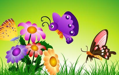mariposas y flores 8