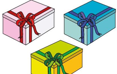 Pink, blue and green gift Boxes