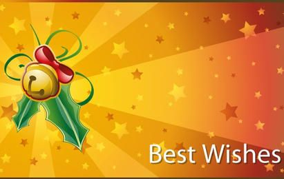 Christmas Best Wishes Cards Vector