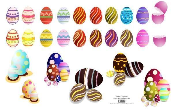 Huevos de Pascua Set2 Vector