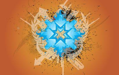 Direccion azul Grunge fondo Vector Graphic