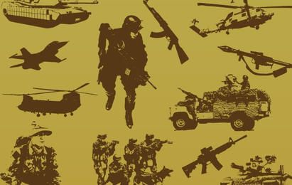Military free vector pack