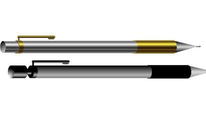 Duas canetas de vetor livre