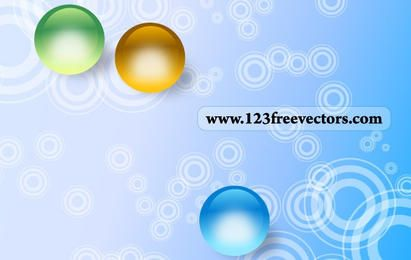 Abstract Outlined Circle Background
