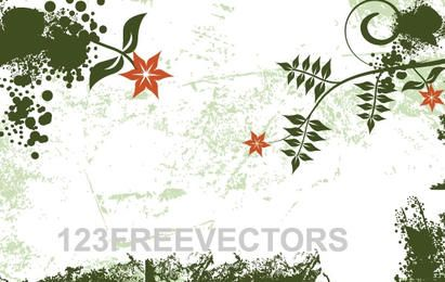 Grunge grüner Blumenhintergrund