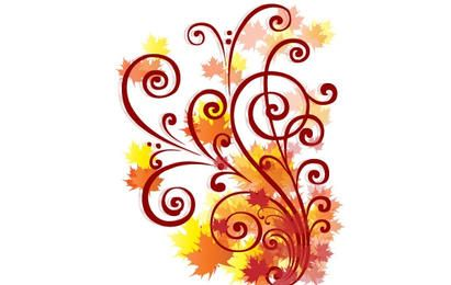 Autumn Swirl Vector