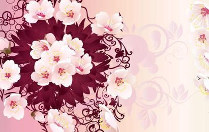 Free Rain Flowers Vector Graphic