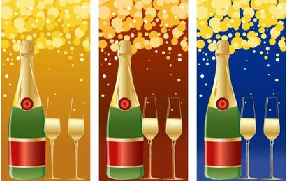 VECTOR CHAMPAGNE NEW YEARS BACKGROUND