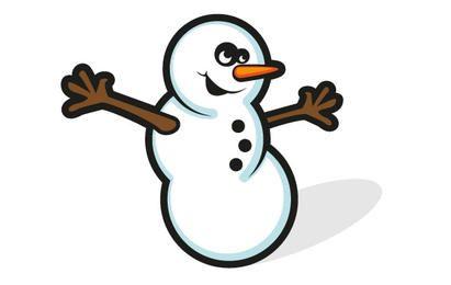 Vetor de boneco de neve grátis