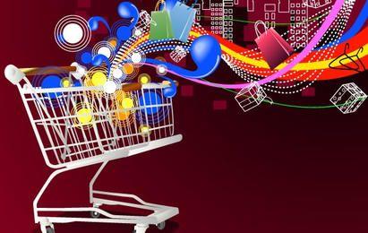 Einkaufswagen-Hintergrundbild