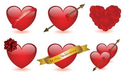 6 corações dos namorados