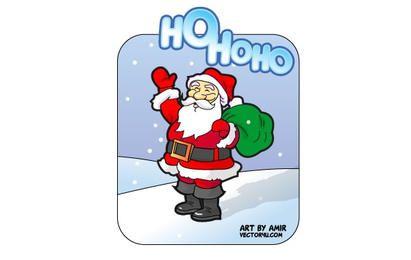 Santa Claus Hohoho Vector