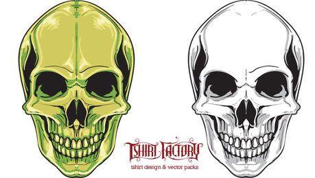 Detailed Vector Skulls