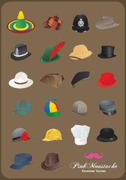 Colección de sombreros ilustrados.