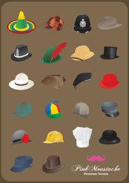 Illustrated hats collection