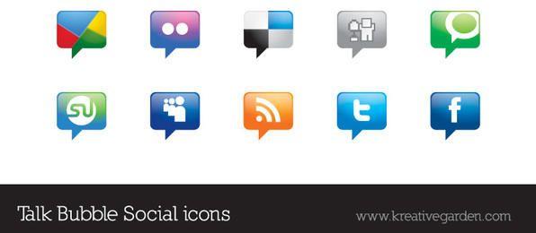 Iconos de Vector Social discurso burbuja