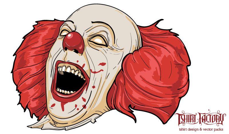 Cartoon Characters Evil : Evil clown cartoon character vector download