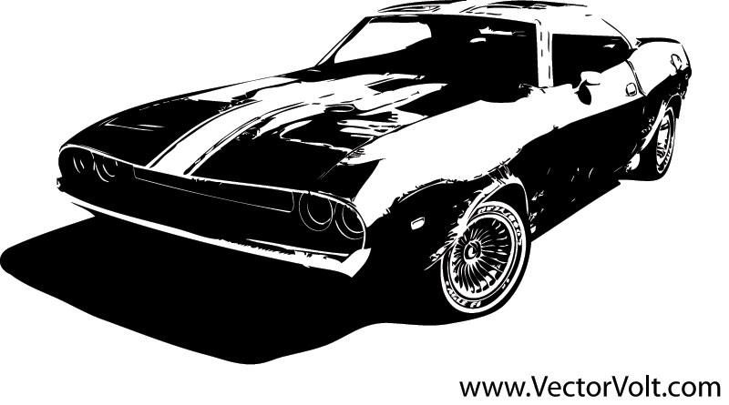 Muscle Car Vector Graphic Vector Download